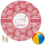 Coral Round Beach Towel (Personalized)