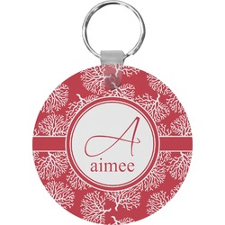 Coral Round Keychain (Personalized)