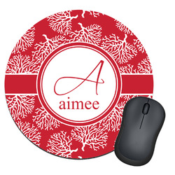 Coral Round Mouse Pad (Personalized)