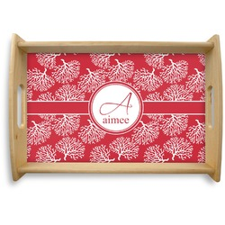 Coral Natural Wooden Tray - Small (Personalized)