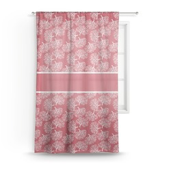 Coral Sheer Curtains (Personalized)