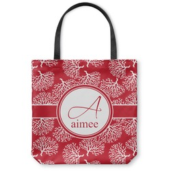 Coral Canvas Tote Bag (Personalized)