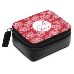 Coral Small Leatherette Travel Pill Case (Personalized)