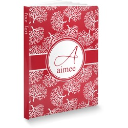 "Coral Softbound Notebook - 5.75"" x 8"" (Personalized)"