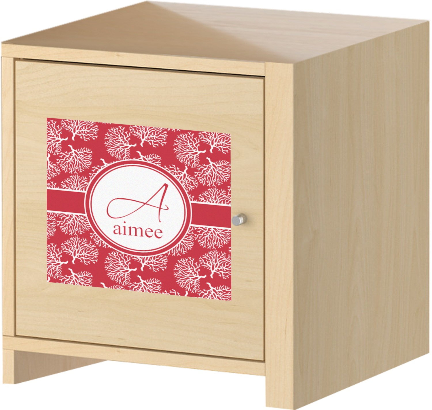 Coral Square Decal Custom Size Personalized
