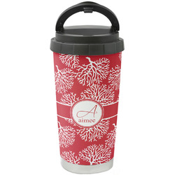 Coral Stainless Steel Travel Mug (Personalized)