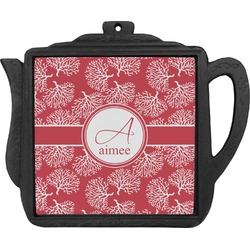 Coral Teapot Trivet (Personalized)