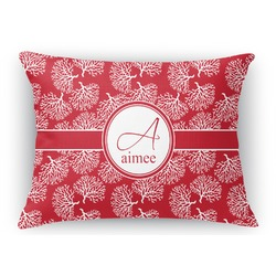 Coral Rectangular Throw Pillow Case (Personalized)