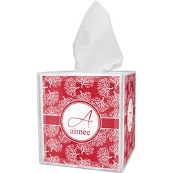 Coral Tissue Box Cover (Personalized)