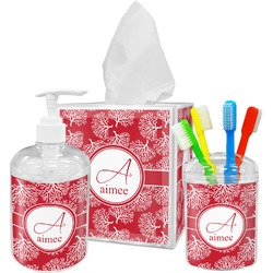 Coral Bathroom Accessories Set (Personalized)