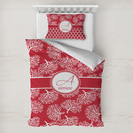 Coral Toddler Bedding w/ Name and Initial