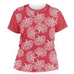 Coral Women's Crew T-Shirt (Personalized)