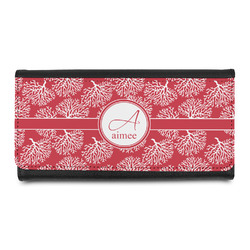 Coral Leatherette Ladies Wallet (Personalized)