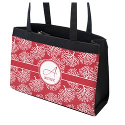 Coral Zippered Everyday Tote (Personalized)
