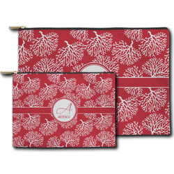 Coral Zipper Pouch (Personalized)
