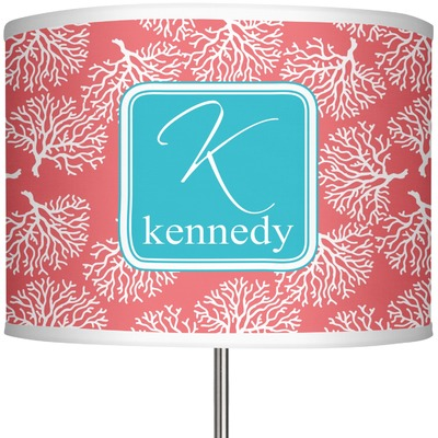 "Coral & Teal 13"" Drum Lamp Shade (Personalized)"