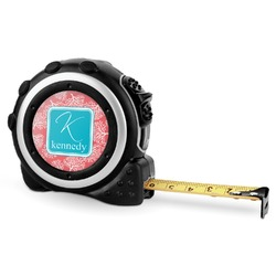 Coral & Teal Tape Measure - 16 Ft (Personalized)