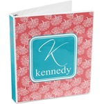 Coral & Teal 3-Ring Binder (Personalized)
