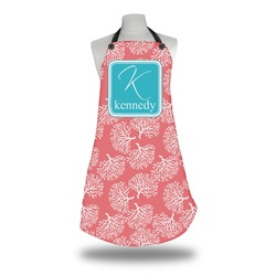 Coral & Teal Apron (Personalized)