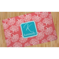 Coral & Teal Area Rug (Personalized)