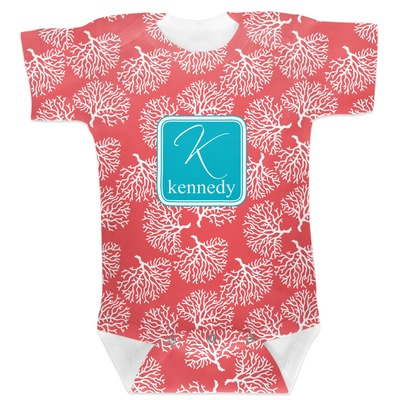 Coral & Teal Baby Bodysuit (Personalized)