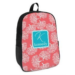 Coral & Teal Kids Backpack (Personalized)