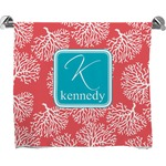 Coral & Teal Full Print Bath Towel (Personalized)