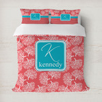Coral & Teal Duvet Cover (Personalized)