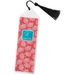 Coral & Teal Book Mark w/Tassel (Personalized)