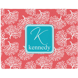 Coral & Teal Placemat (Fabric) (Personalized)