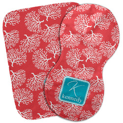 Coral & Teal Burp Cloth (Personalized)