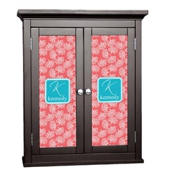 Coral & Teal Cabinet Decal - Custom Size (Personalized)