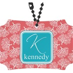 Coral & Teal Rear View Mirror Ornament (Personalized)