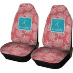 Coral & Teal Car Seat Covers (Set of Two) (Personalized)
