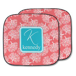 Coral & Teal Car Sun Shade - Two Piece (Personalized)