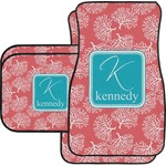 Coral & Teal Car Floor Mats (Personalized)