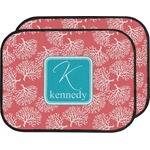 Coral & Teal Car Floor Mats (Back Seat) (Personalized)