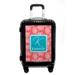 Coral & Teal Carry On Hard Shell Suitcase (Personalized)