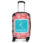 Coral & Teal Suitcase (Personalized)