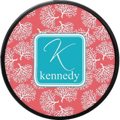 Coral & Teal Round Trailer Hitch Cover (Personalized)