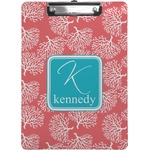 Coral & Teal Clipboard (Personalized)
