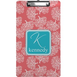 Coral & Teal Clipboard (Legal Size) (Personalized)