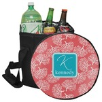 Coral & Teal Collapsible Cooler & Seat (Personalized)