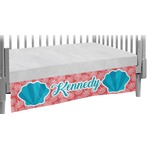 Coral & Teal Crib Skirt (Personalized)
