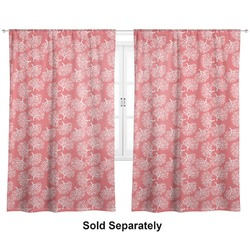 "Coral & Teal Curtains - 40""x84"" Panels - Unlined (2 Panels Per Set) (Personalized)"