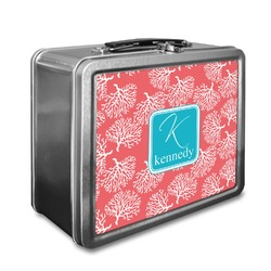 Coral & Teal Lunch Box (Personalized)