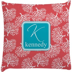 Coral & Teal Decorative Pillow Case (Personalized)