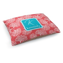 Coral & Teal Dog Pillow Bed (Personalized)