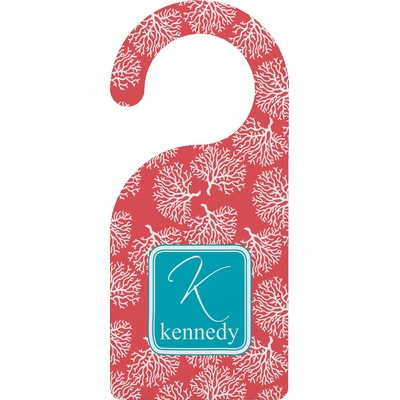 Coral & Teal Door Hanger (Personalized)