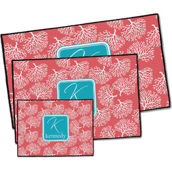 Coral & Teal Door Mat (Personalized)